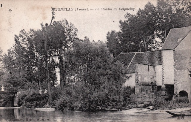 Seignelay (89) Le Moulin CPA