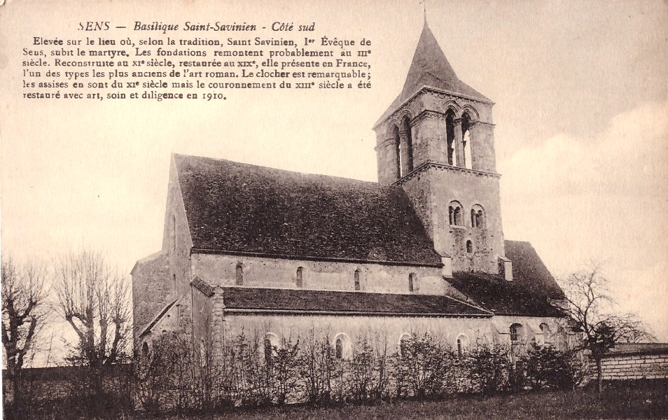 Sens (89) La basilique Saint-Savinien CPA