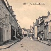 Sens (89) La rue Alsace-Lorraine CPA