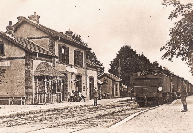 Senuc (08) La gare CPA