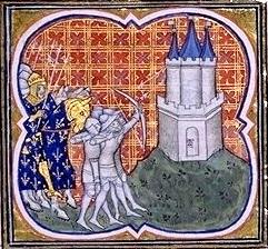 Siège de Melun par Robert le Pieux, image vers 1370