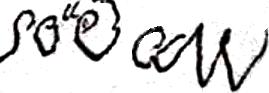 Soudan Pierre Joseph Sylvestre (1789/1864), sa signature en 1847