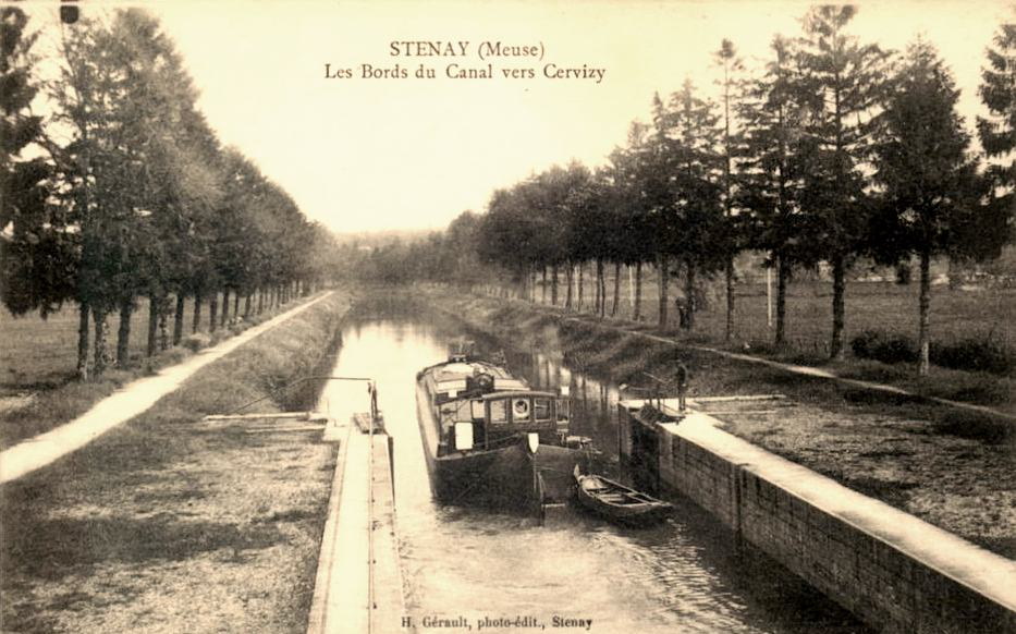 Stenay (Meuse) Cervisy, le canal CPA