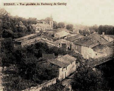 Stenay (Meuse) Cervisy, vue générale CPA