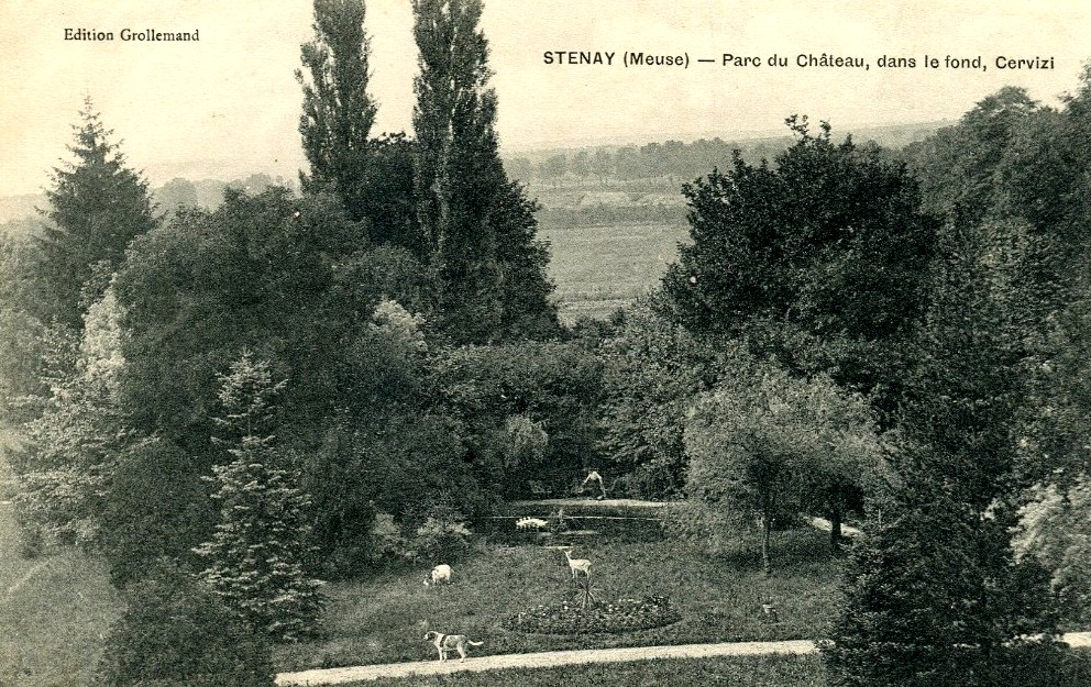Stenay (Meuse) Le château des Tilleuls, jardin