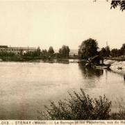 Stenay (Meuse) La Papeterie et le barrage CPA