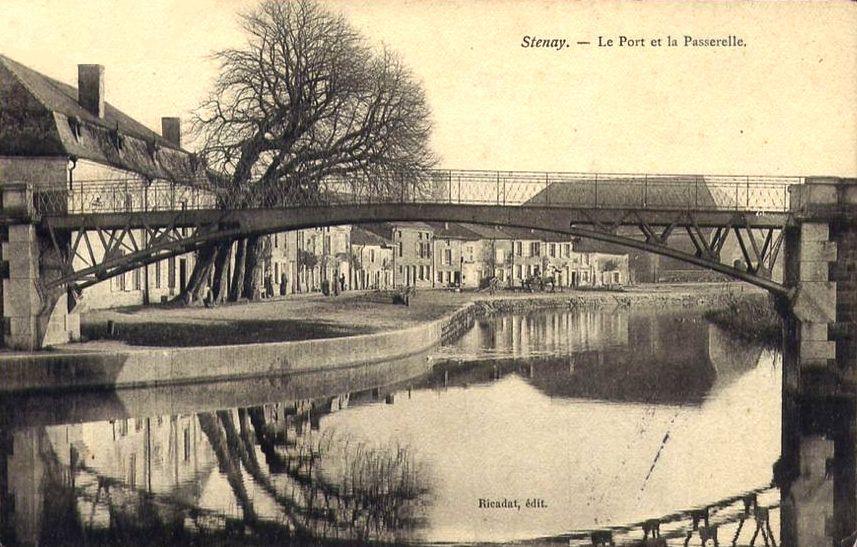 Stenay (Meuse) La passerelle et le pont CPA