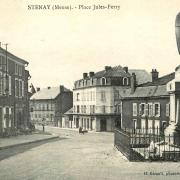 Stenay (Meuse) La place Jules Ferry CPA