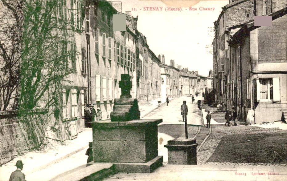 Stenay (Meuse) La rue de Chanzy CPA