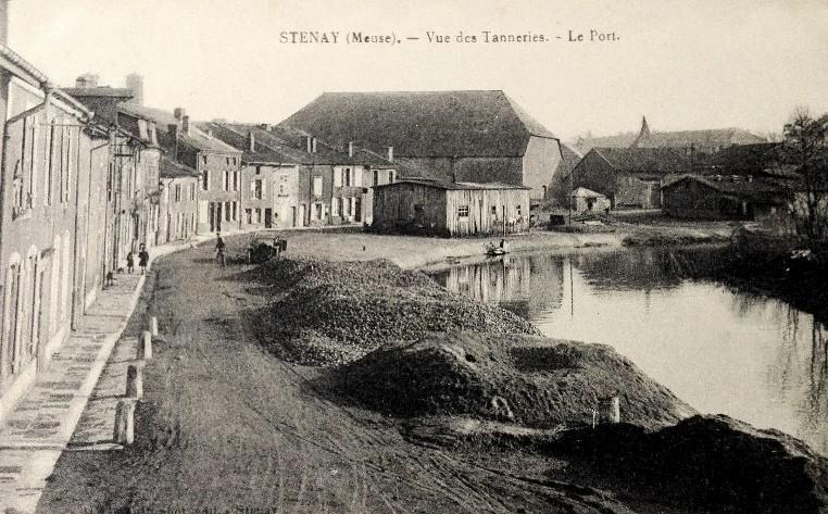 Stenay (Meuse) Le port CPA