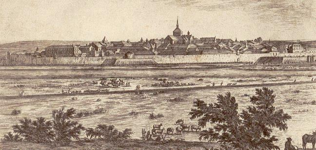 Stenay (Meuse) Profil de la ville en 1670