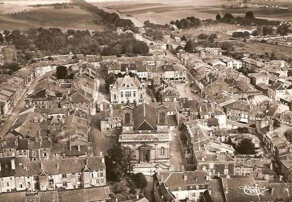 Stenay (Meuse) Vue aérienne CPA