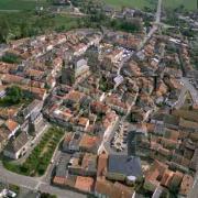 Stenay (Meuse) Vue aérienne 1998
