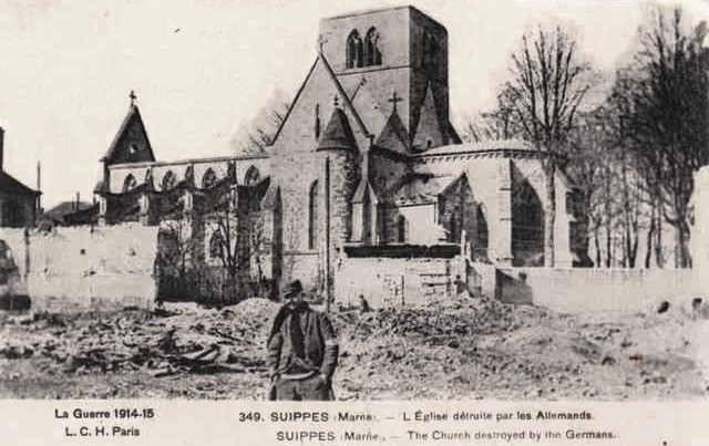 Suippes 51 l eglise 1914 1915 cpa