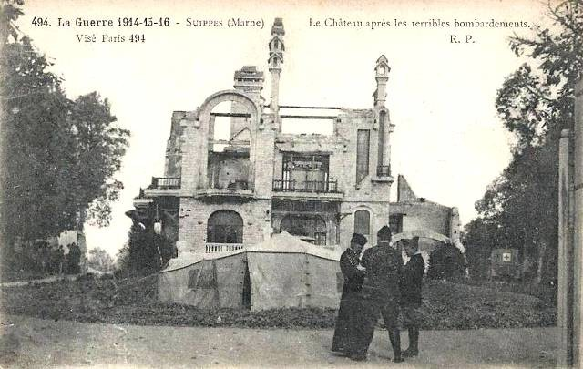 Suippes 51 le chateau 1914 1915 cpa