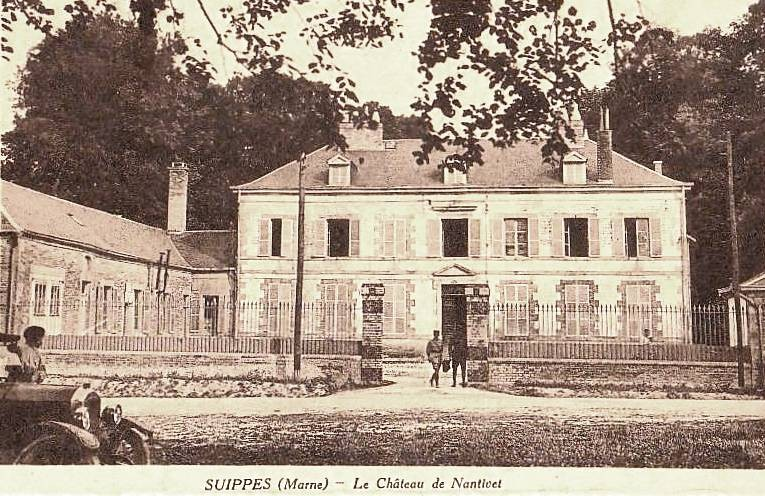 Suippes 51 le chateau de nantivet cpa