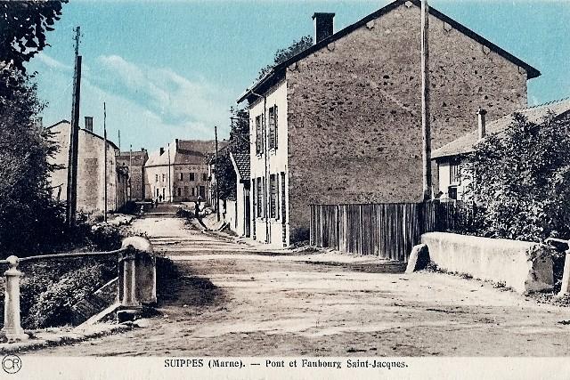 Suippes 51 le faubourg saint jacques cpa