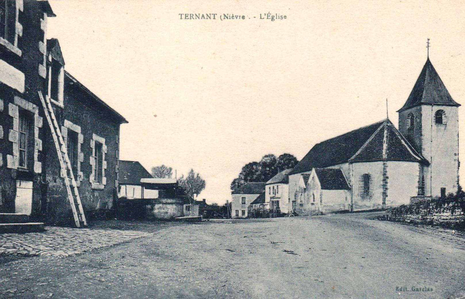 Ternant (Nièvre) L'église Saint-Roch CPA