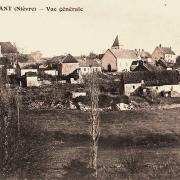 Ternant (Nièvre) Vue générale CPA