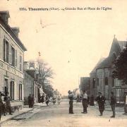 Thaumiers (18) L'Hôtel de la Boule CPA
