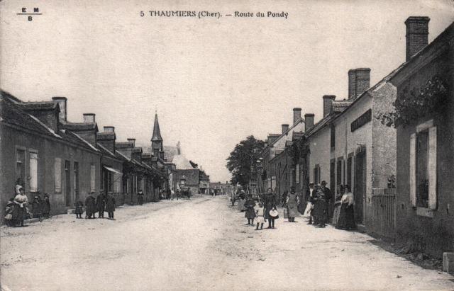 Thaumiers (18) La route du Pondy CPA