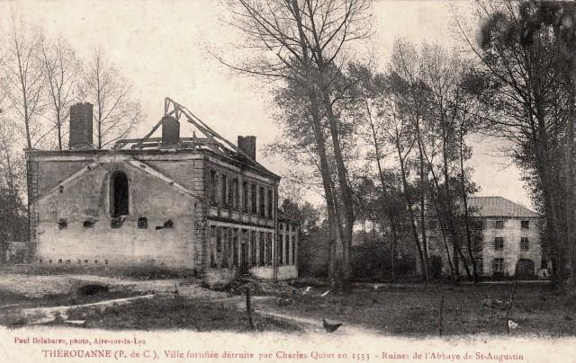 Therouanne pas de calais les ruines de l abbaye saint augustin cpa