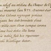 Tombeau de cuivre de Charles II dit le Chauve, texte