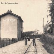 Toucy (89) La gare de Toucy-le-haut CPA