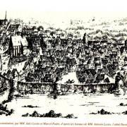 Toucy (89) La ville vers 1275, gravure