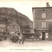 Tournemire (Aveyron) CPA L'avenue de la gare