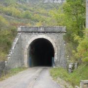Tournemire (Aveyron) L'entrée du tunnel