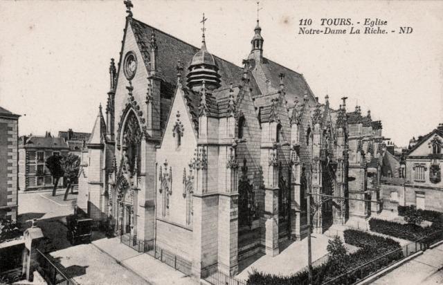 Tours (37) Eglise Notre-Dame-la-Riche CPA