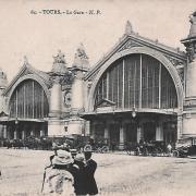 Tours (37) Gare CPA
