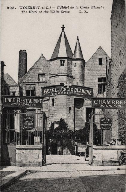 Tours (37) Hôtel de la Croix Blanche CPA2