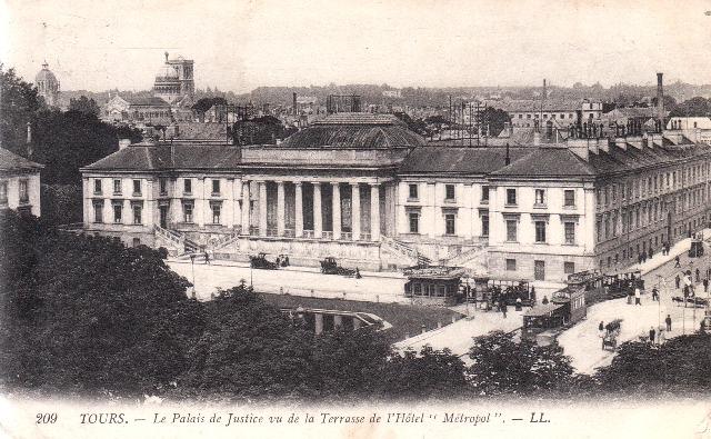 Tours (37) Palais de Justice CPA