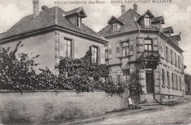 Truchtersheim 67 l hotel restaurant cpa