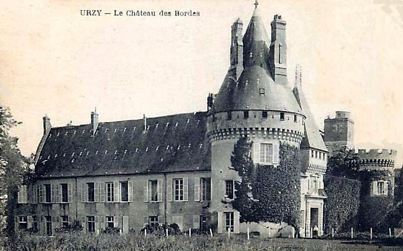 Urzy (Nièvre) Le château des Bordes CPA