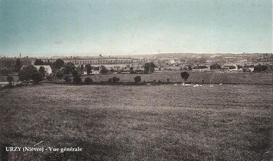 Urzy (Nièvre) Vue générale CPA