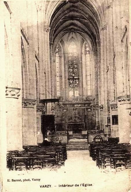 Varzy (Nièvre) L'église CPA
