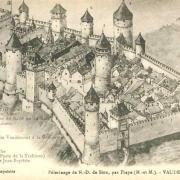 Vaudémont 54 le château gravure avant 1636