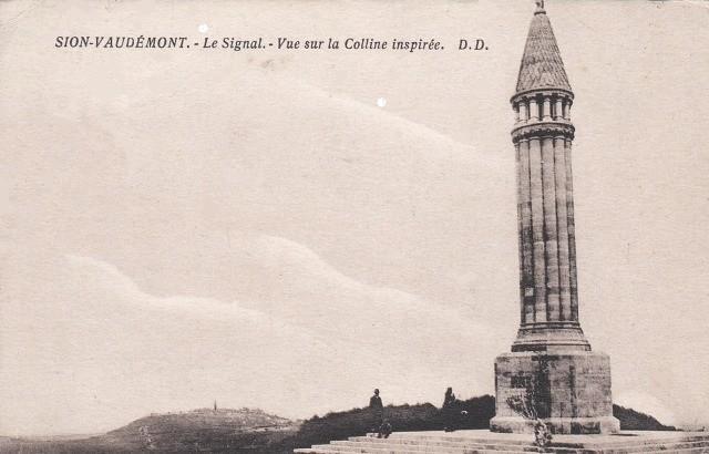 Vaudemont 54 le monument à Maurice Barres cpa