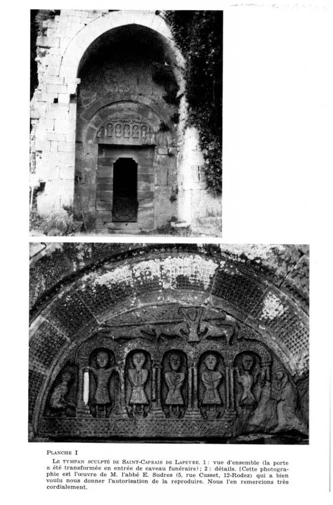 Versols-et-Lapeyre (Aveyron) Le tympan de l'église Saint Caprais