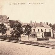 Vieils-Maisons (Aisne) CPA Place et fontaine