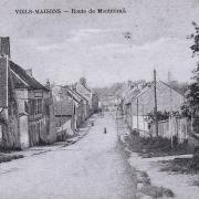 Vieils-Maisons (Aisne) CPA Route de Montmirail