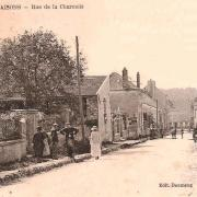 Vieils-Maisons (Aisne) CPA rue de la Charmois