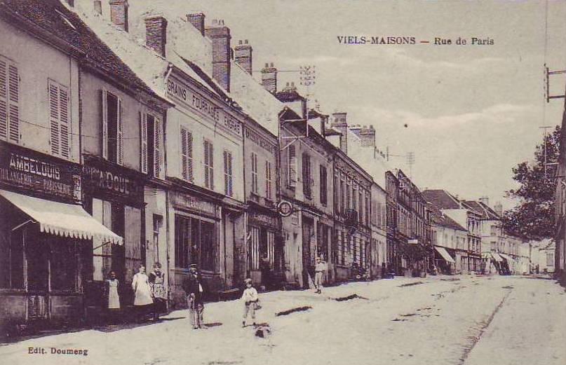 Vieils-Maisons (Aisne) CPA rue de Paris