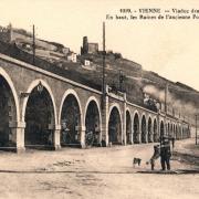 Vienne (Isère) Le viaduc des Portes de Lyon CPA
