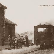 Viesly 59 la gare avant la guerre cpa