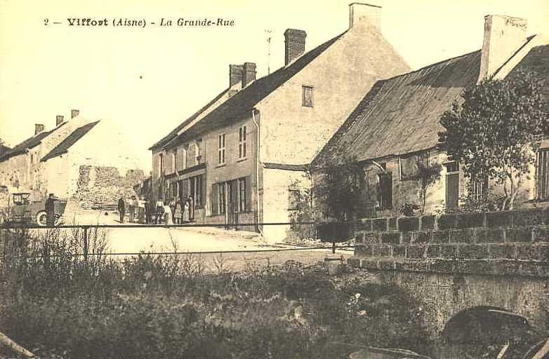 Viffort (Aisne) CPA La grande rue