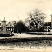 Villers-en-Prayères (Aisne) CPA l'entrée du château